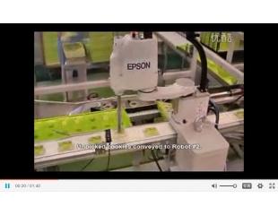 EPSON饼干包装传送带跟踪 (G3 SCARA机器人)