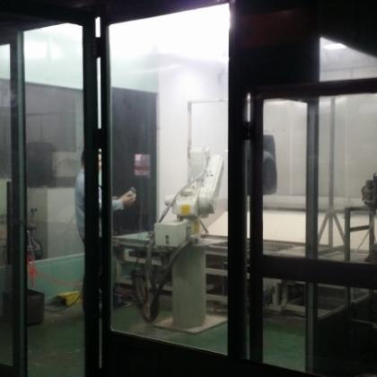 银田机电川崎机器人涂装实验室