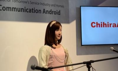 CES2015展�� �|芝推出智能仿真�C器人