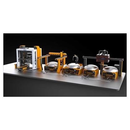 重型压力容器行业     分离器封头切割焊接生产线