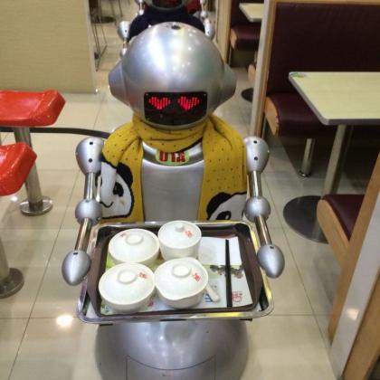 穿山甲机器人  第三代送餐机器人