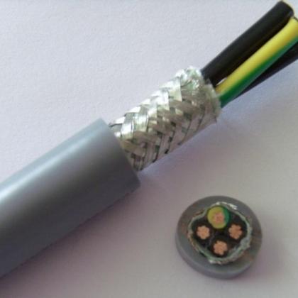 4芯0.75QMM高柔性屏蔽电缆,耐弯曲屏蔽拖链电缆