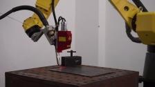 英莱科技——激光视觉焊缝跟踪系统配FANUC焊接演示