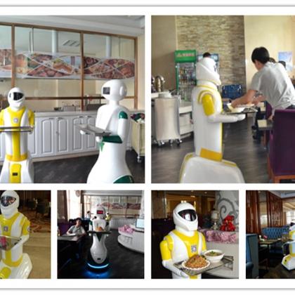 硅智科技酒店、餐厅、ktv新品送餐机器人