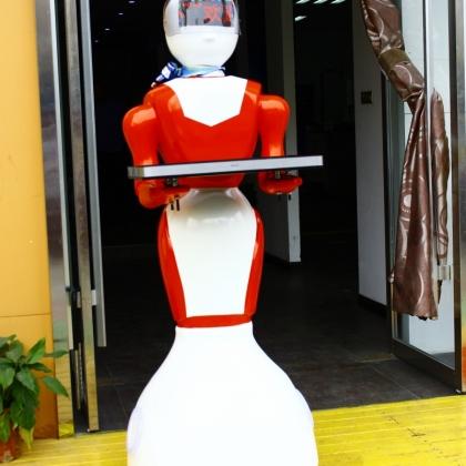 送餐机器人 餐厅迎宾机器人