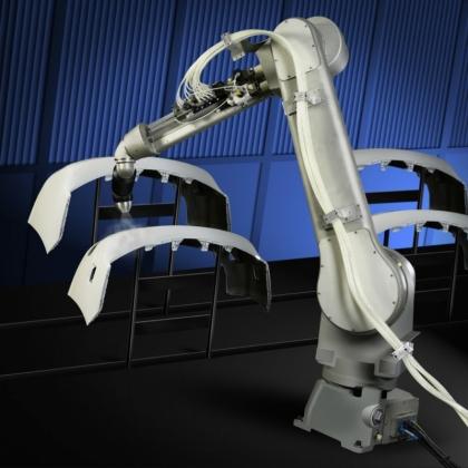 喷涂机器人智能工作站