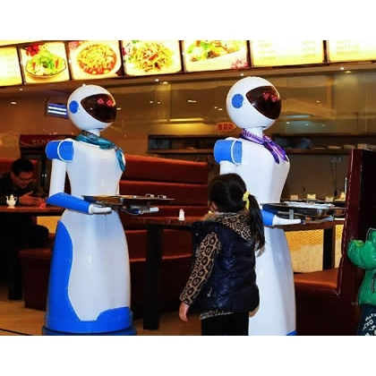 广西省餐厅机器人、送餐机器人、送菜机器人、红美机器人设备厂家直销
