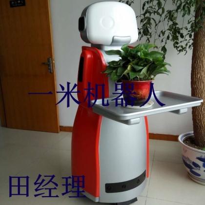 出租餐饮送餐机器人\火锅店拖车送餐机器人 一米机器人