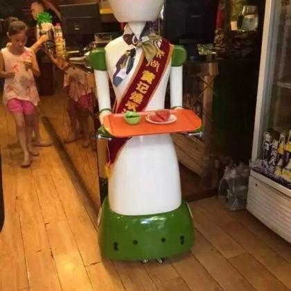 珠海市餐厅机器人、送餐机器人、送菜机器人、红美机器人设备厂家直销