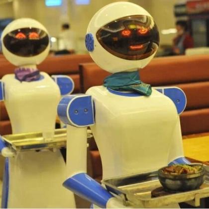 深圳市餐厅机器人、送餐机器人、送菜机器人、红美机器人设备厂家直销