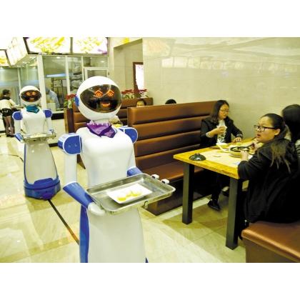 桂林市餐厅机器人、送餐机器人、送菜机器人、红美机器人设备厂家直销