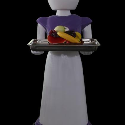 送餐机器人、酒店机器人、餐厅机器人、美女机器人