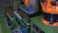 库卡工业机器人 饮料瓶堆垛