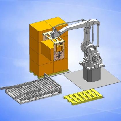 广州长仁纸箱搬运机器人  可码垛2.5米高机器人 厂家直销