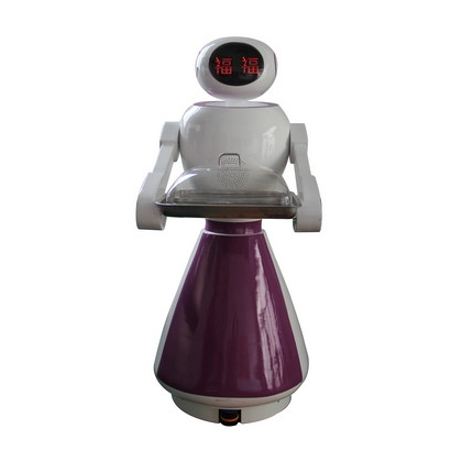穿山甲餐厅服务机器人送餐传菜 美女迎宾机器人厂家直销