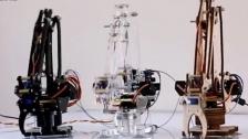 把一个微型工业机器人的手臂安在你的桌上