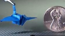 达芬奇手术机器人折千纸鹤