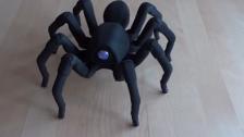 3D打印出来的蜘蛛机器人