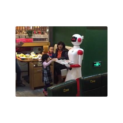 七只猴儿童餐厅机器人服务员、迎宾、送餐、领位多功能服务机器人