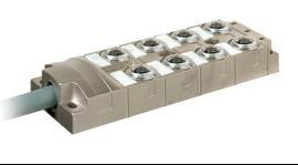 坚固,耐腐蚀,高密封8口座分线盒预制电缆PNP型双信号 使用预接线和经过测试的电缆来快速安装带屏蔽模型用于EMC兼容安装 预接线预制电缆,长度可选密封的因为完全灌封 高品质的宽线径的PUR电缆材质可选:铜合金或不锈钢 环境条件 环境温度(运行)-40℃~+90℃ 外壳防护等级IP67/IP68 是否耐腐蚀是 常规 接触电阻≤5 mΩ 绝缘电阻≥100 MΩ 状态显示否 电涌电压类别II 污染等级3 电缆规格16*0.34mm2+3*0.75mm2 电缆长度指示等状态外壳材质额定电流/额定电压特性Co-fly物料号 5MPNP铜合金4A/24V耐腐蚀/放焊渣KYF8K-M12-K5-PNP-L5M.PB-II 5MPNP不锈钢4A/24V防盐雾/耐腐蚀/放焊渣KYF8K-M12-K5-PNP-L5M.PB.304-II 10MPNP铜合金4A/24V耐腐蚀/放焊渣KYF8K-M12-K5-PNP-L10M.PB-II 10MPNP不锈钢4A/24V防盐雾/耐腐蚀/放焊渣KYF8K-M12-K5-PNP-L10M.PB.304-II 15MPNP铜合金4A/24V耐腐蚀/放焊渣KYF8K-M12-K5-PNP-L15M.PB-II 15MPNP不锈钢4A/24V防盐雾/耐腐蚀/放焊渣KYF8K-M12-K5-PNP-L15M.PB.304-II 电缆长度标准5M,其他长度物料备注方式L10M.如电缆长度10M料号:KYF8K-M12-K5-PNP-L10M.PB