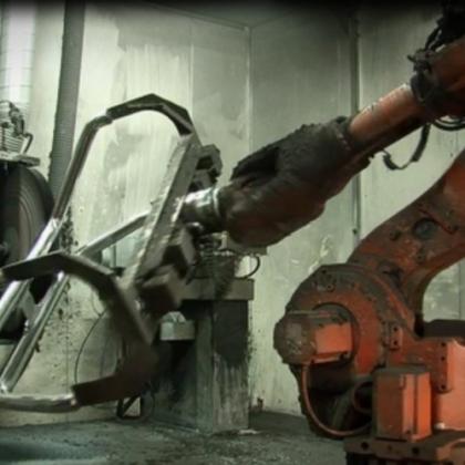 不锈钢保险杠打磨抛光机器人