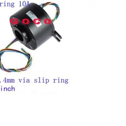 深圳大型滑环厂家销售 过孔25.4mm滑环 6路10A、印刷设备滑环转子