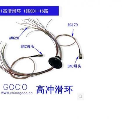 SDI高清滑环高频旋转接头滑环传输1080P 图象分辨率30-60帧1-16路