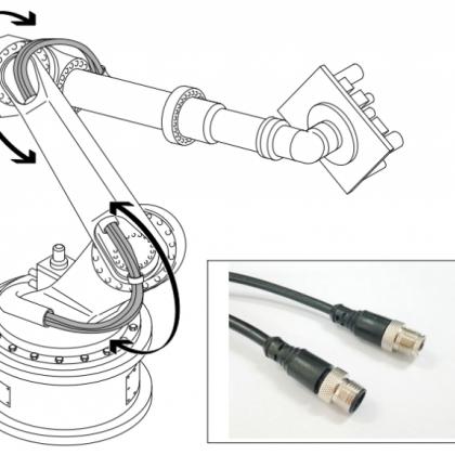 传感器连接器多接口分线盒带高柔性电缆连接器
