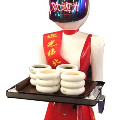 美女服务机器人