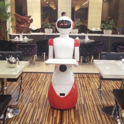 济南机器人餐厅,迎宾+领位+送餐餐厅全方位服务厂家