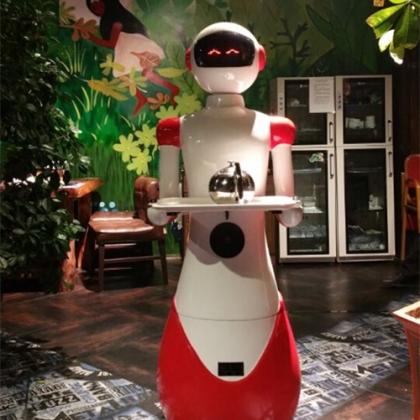 天津机器人餐厅,迎宾+领位+送餐餐厅全方位服务厂家