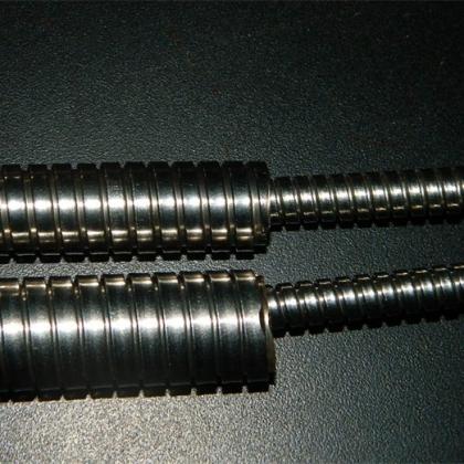 供应福莱通双扣抗拉型不锈钢金属软管 机器人线路保护专用