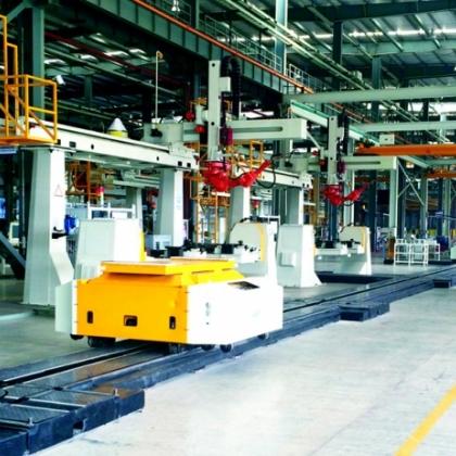 主平台机器人焊接生产线
