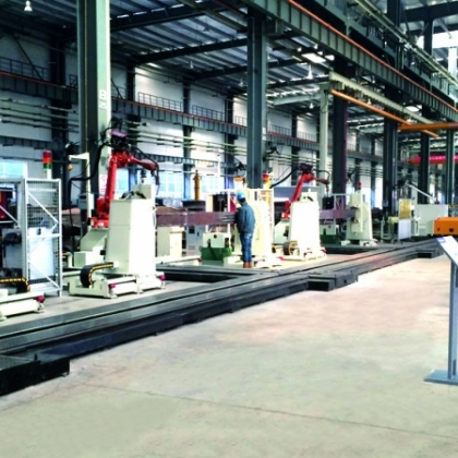 斗杆机器人焊接生产线