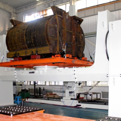 搅拌机壳体焊接机器人工作站