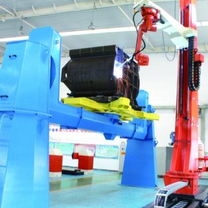 履带式起重机结构件焊接生产用机器人系统