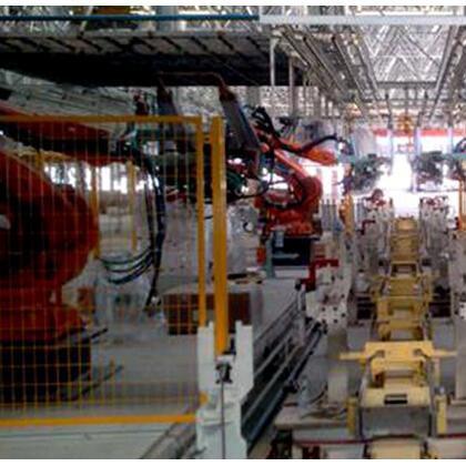 白车身机器人点焊生产线