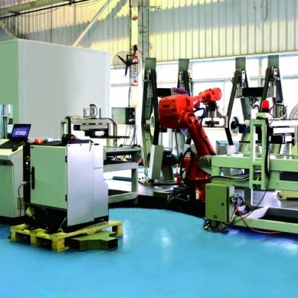 花洒激光焊接抛光机器人生产线