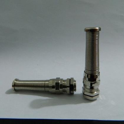 供应福莱通精密防折弯电缆接头 弹簧防折弯铜镀镍接头