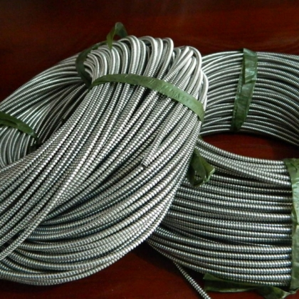 厂家直销穿线用不锈钢波纹管 机器人线路护套软管批发