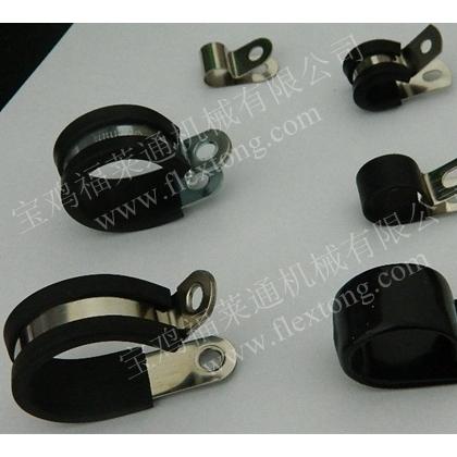 福莱通R型线夹 铁镀锌包胶条紧固夹 机器人线路整理专用
