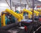 配天机器人_铝合金零件打磨