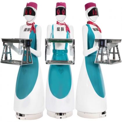 西安星探机器人第三代餐厅送餐机器人