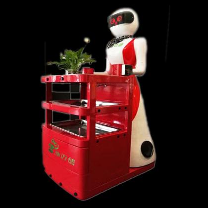 施迈德火锅餐厅送餐机器人传菜点餐机器人迎宾机器人