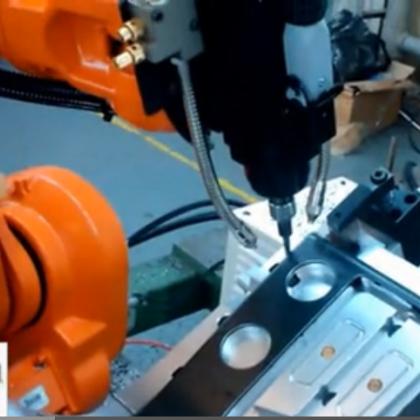 工业机器人铣削工作站