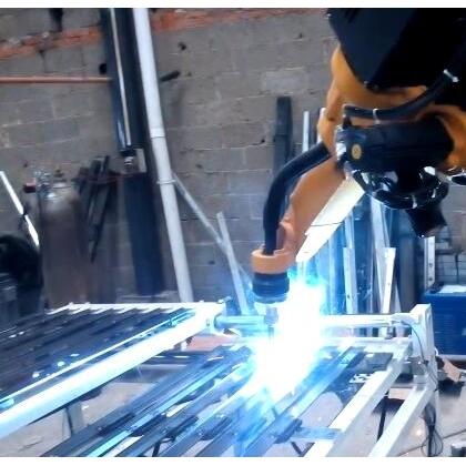 EWA-600应用防盗门配件焊接工作站