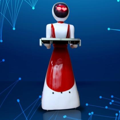 最新款美女姐姐送餐机器人
