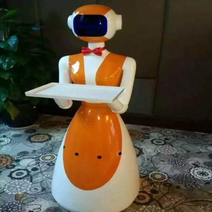 厂家智能送餐迎宾机器人 人形语音互动行走机器人 餐厅服务员