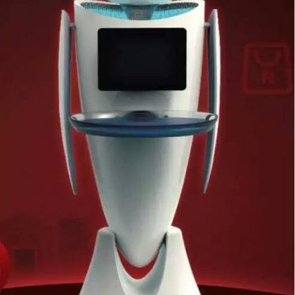 无轨道美女送餐机器人 厂家批发