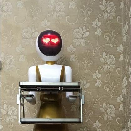 厂家直销智能餐厅机器人实时对话传菜机器人服务员可定制功能